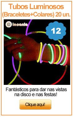Tubos Luminosos (Braceletes + Colares) 20 Unidades