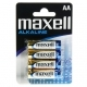 Pilhas Alcalinas Maxell AA Pack 4