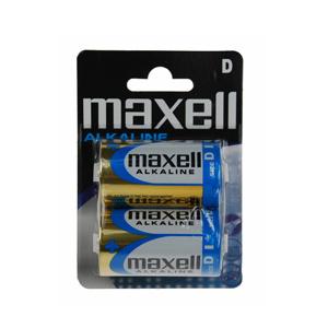 Pilhas Maxell Super Alcalina LR20 XL D (Pack 2) (Entrega em 24h)
