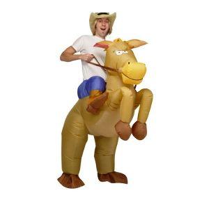 Fato Cowboy e Cavalo Insuflável