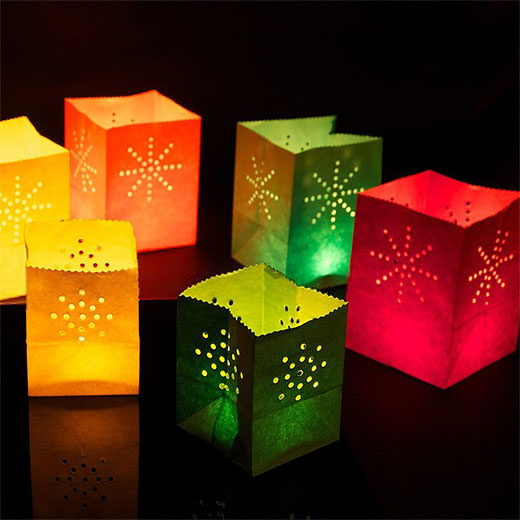 Bolsas de colores para velas pack de 12 insania - Farolillos para velas ...