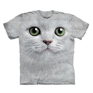 T-Shirt Face Gato Olhos Verdes (Entrega em 24h)