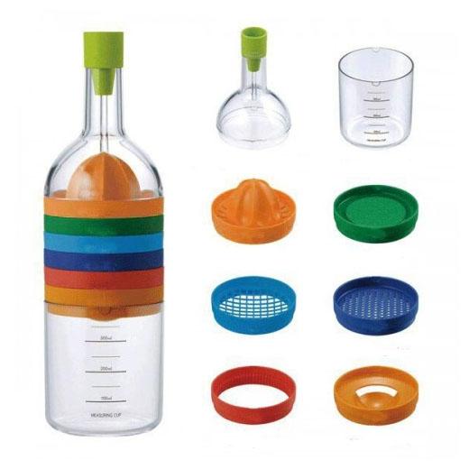 Botella con 8 utensilios de cocina insania for Utensilios modernos