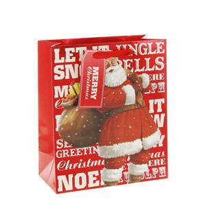Saco de Presente Pai Natal Pequeno (Entrega em 24h)