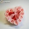 Coração Sabonetes Pétalas de Rosa (Pack 18)