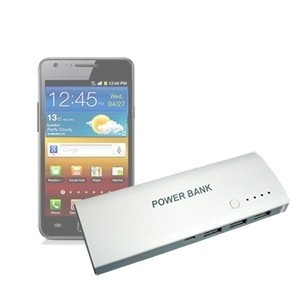 Carregador Portátil Powerbank Low Cost 3 portas USB 12800mAh