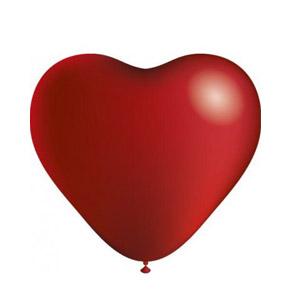 Balões Coração Vermelho (Pack 8) (Entrega em 24h)