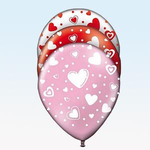 Balões com Corações (Pack 8) (Entrega em 24h)