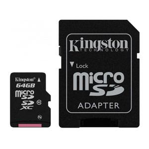 Cartão Kingston Micro SD C/ Adaptador SD 64GB (Entrega em 24h)