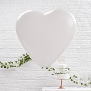 Balões Coração Branco 26 cm (Pack 10) (Entrega em 24h)