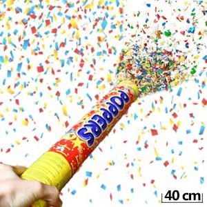 Tubo de Confetes 40 cm (Entrega em 24h)