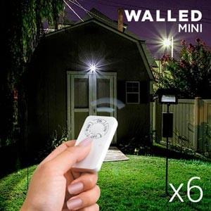 Focos LED Walled c/ Comando (Pack 6) (Entrega em 24h)