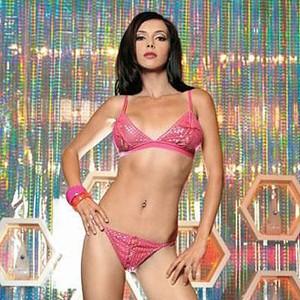 Conjunto Sexy Leg Avenue Sutiã e Tanga Rosa