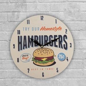 Relógio de Parede Retro Fast Food