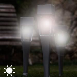 Luz Solar Quadrada Pack 4