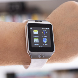 Smartwatch com Câmara e GSM Android e iOS Silver and Black