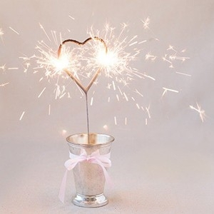 Vela Sparkler Coração 17 cm (Entrega em 24h)