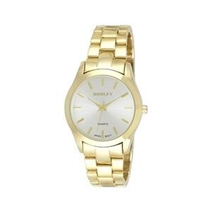 Relógio Henley Clássico Dourado (Entrega em 24h)