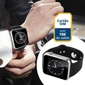 Smartwatch c/ Câmara Android e IOS GSM S1 c/  EUR10 em Saldo | Entregas em 24h | Aproveite Já!