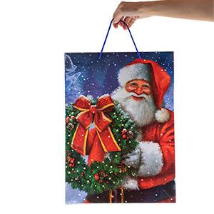Saco de Presente Natal (33x45x10cm) (Entrega em 24h)