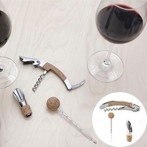 Set de Vinho em Cortiça (3 peças) (Entrega em 24h)