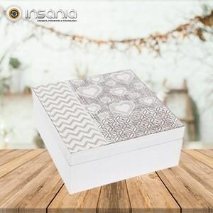 Caixa de Madeira para Jóias Pequena - Com padrões decorativos