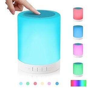 Coluna Sem Fios com Candeeiro de Toque Multicolor (Entrega em 24h)