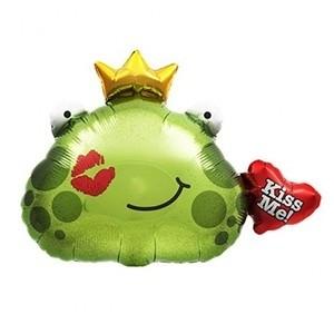 Balão Foil Kiss Me Sapo Príncipe (Entrega em 24h)