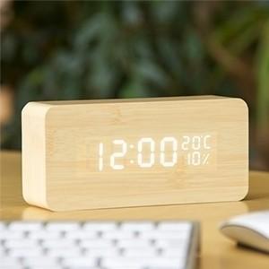 Relógio Despertador de Madeira (Entrega em 24h)
