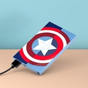 Tribe Deck Power Bank Marvel Captain America 4000 mAh (Entrega em 24h)