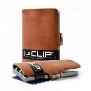 Carteira Porta-cartões I-Clip Soft Touch Ögon Castanha Clara (Entrega em 24h)