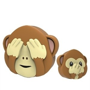 Powerbank Dupla Face Macaco Mojipower 2600mAh (Entrega em 24h)
