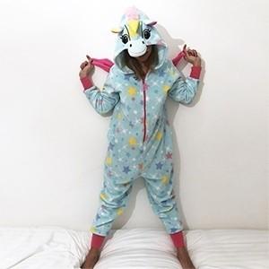 Pijama Macacão Coral Alice (Entrega em 24h)