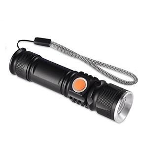 Mini Lanterna Tática LED USB com Zoom (Entrega em 24h)